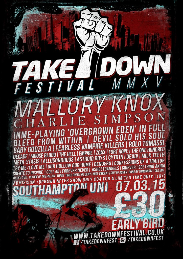 takedown line up 08/01/15