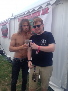 Neale with Jon from Jettblack at Bloodstock 2015