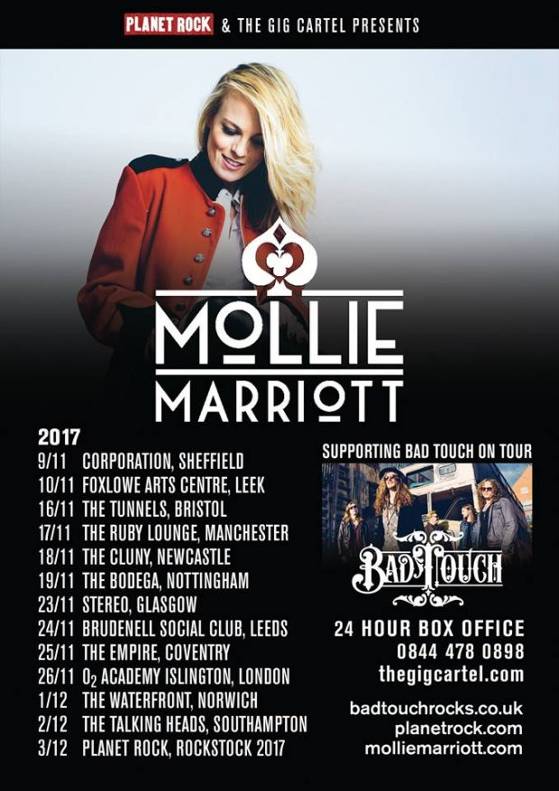 Mollie Marriott Tour 2017