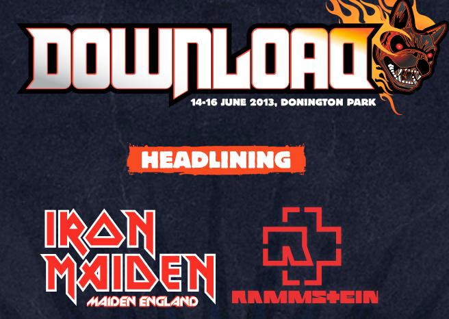 Iron Maiden to headline Download Festival 2013!