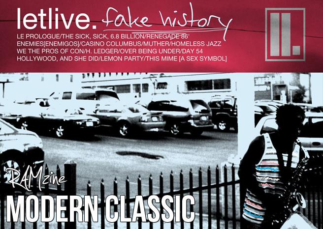 RAMzine Modern Classics #3 letlive. – Fake History