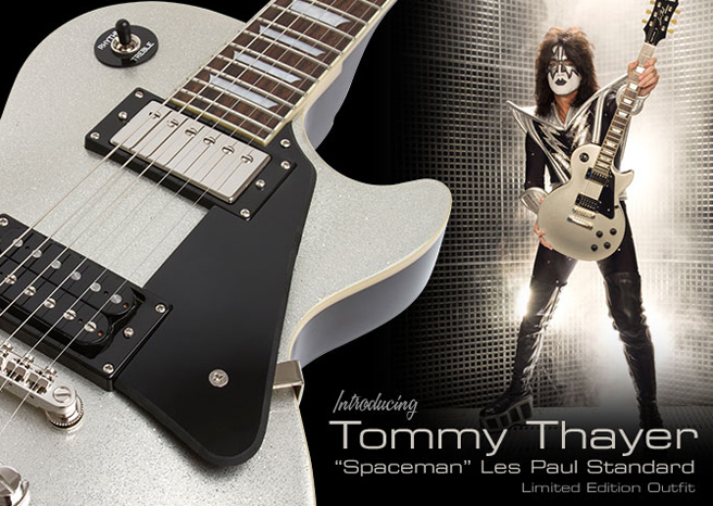 """Epiphone® Introduces the Limited-Edition Tommy Thayer """"Spaceman"""" Les Paul Standard Outfit"""