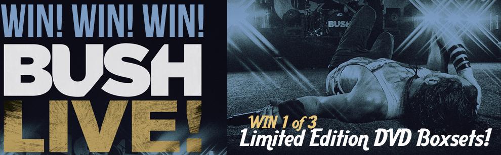 WIN Limited Edition Bush Live DVD + The Sea Of Memories Boxset