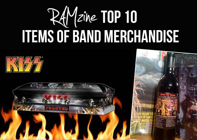 Top Ten Items of Band Merchandise
