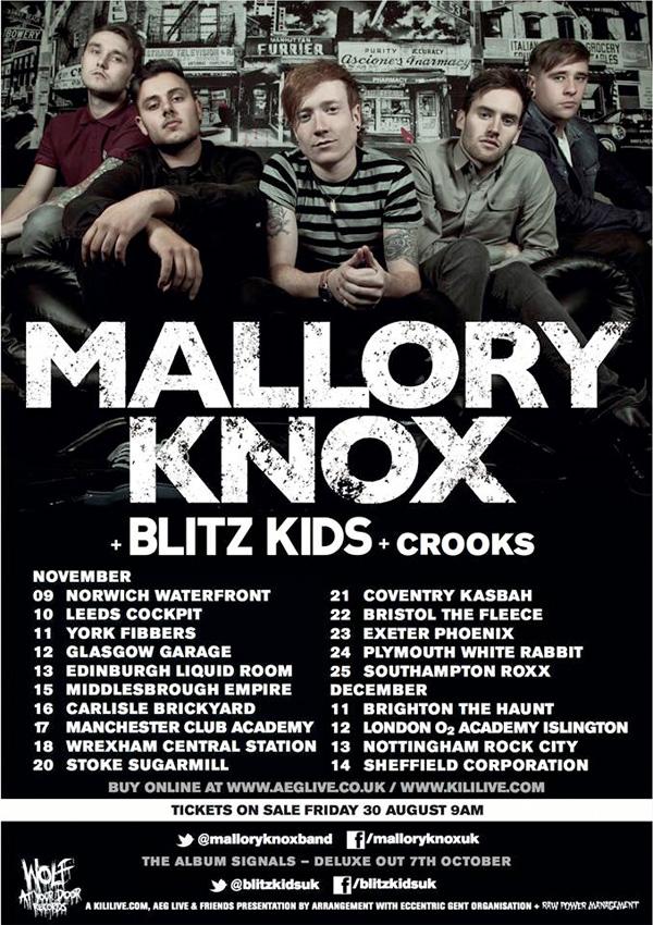 mallory knox tour poster