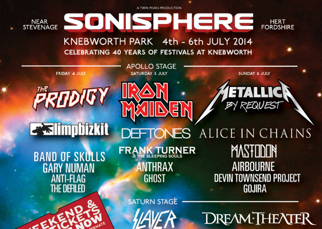 Top 10 moments of Sonisphere 2014
