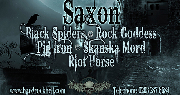 Saxon for Hard Rock Hell 9!