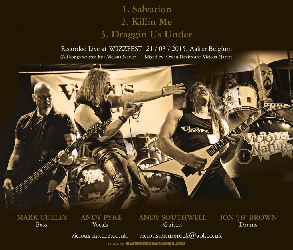 Vicious Nature Live In Belgium EP Back Cover