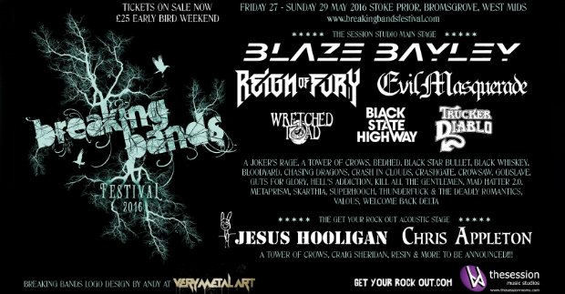 Breaking Bands Festival: Final Main Stage Line-up!