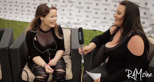 Claire Percival of Dead Label at Download Festival