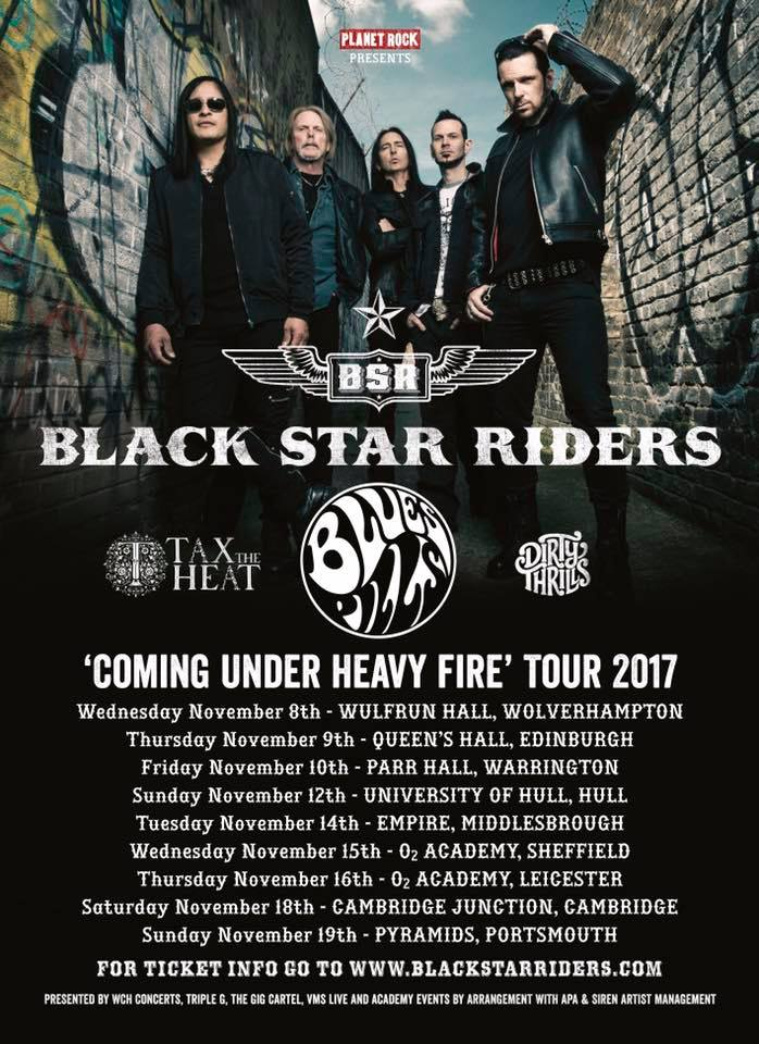 BLACK STAR RIDERS tour