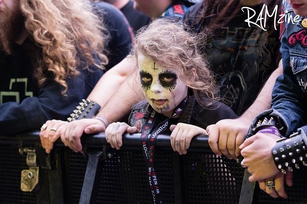 A young black metal fan ready for BOA