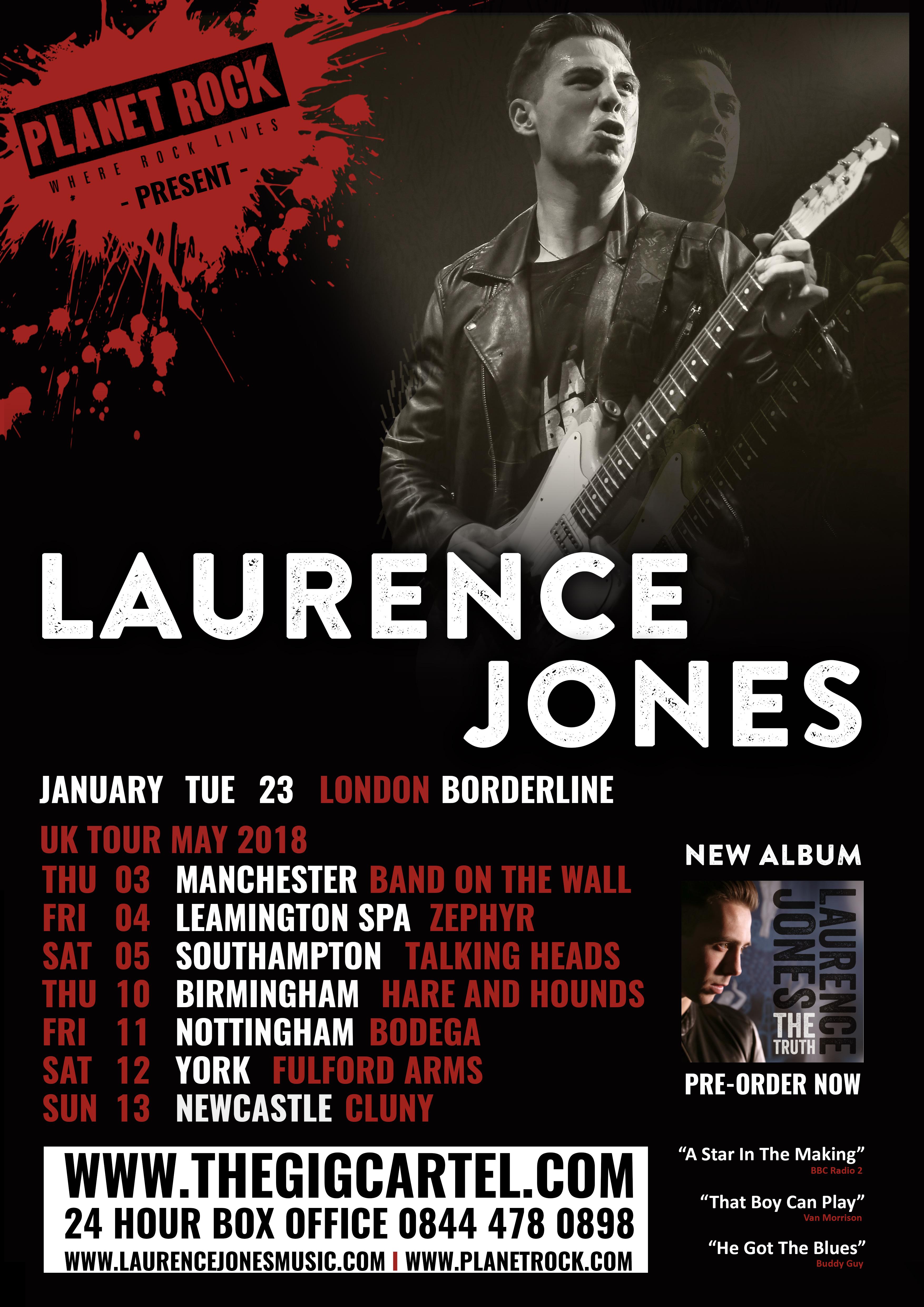 LJ May UK Tour