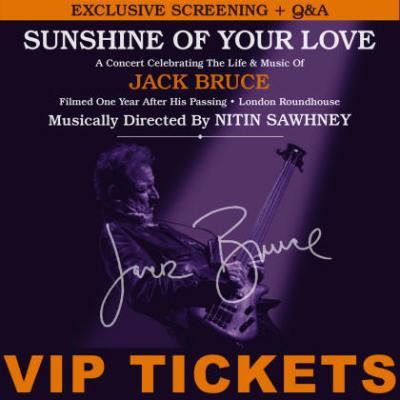Jack Bruce Sunshine Of Your Love Tribute Screening