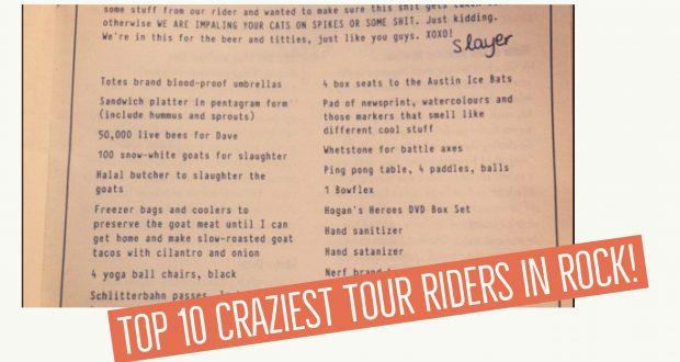 Craziest Tour Riders in Rock