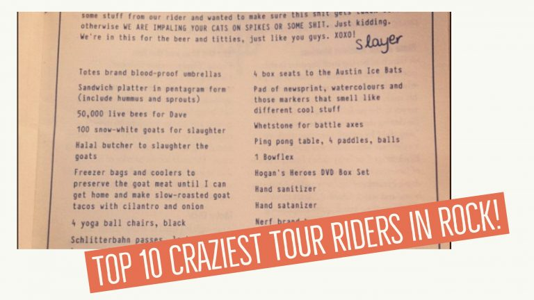 Top Ten Craziest Tour Riders in Rock
