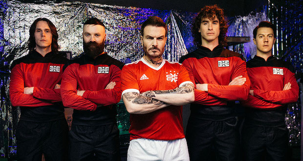 Don Broco put their best foot forward in 'Manchester Super Reds No 1 Fan' video.