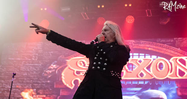 """Saxon """"It's still hard to make a break for young artists"""" Bloodstock 2021"""